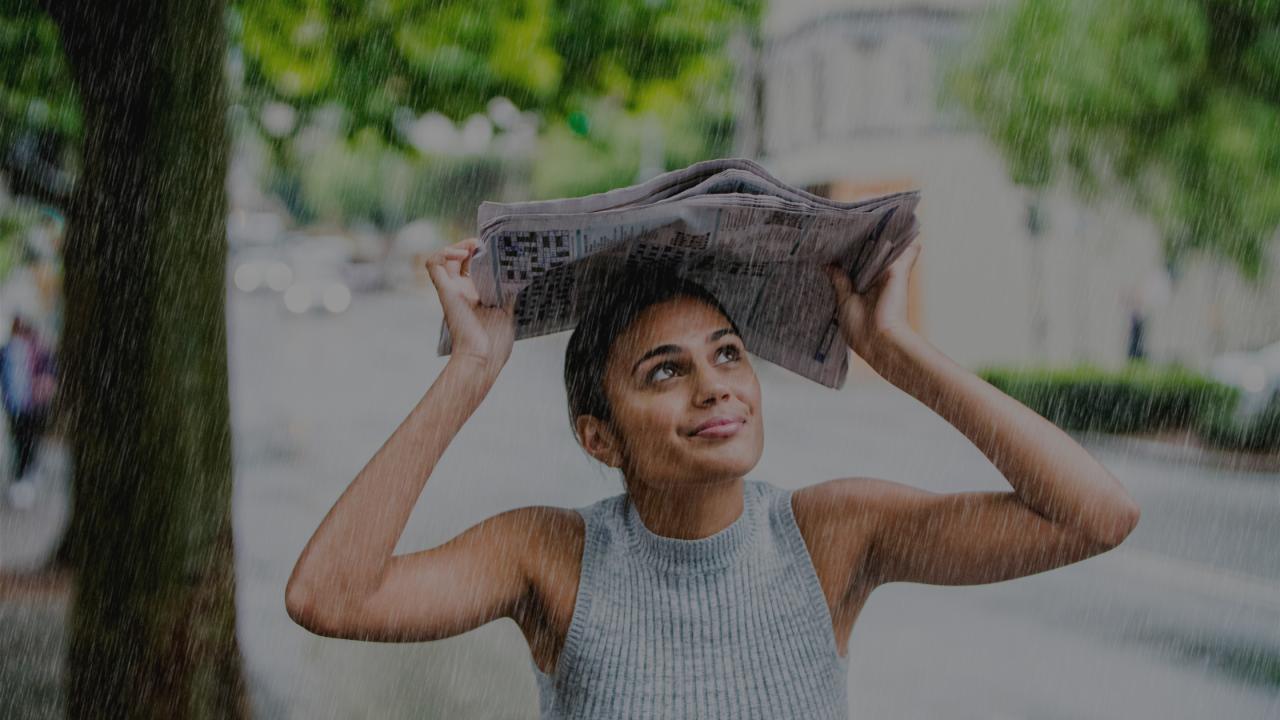 Peinados fáciles para hacer frente a los días de lluvia